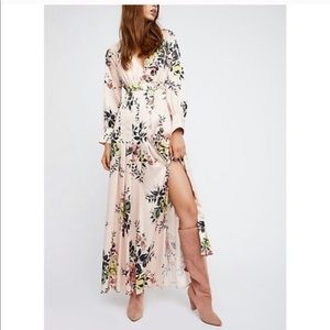 Free People In Bloom Pink Floral Maxi Dress